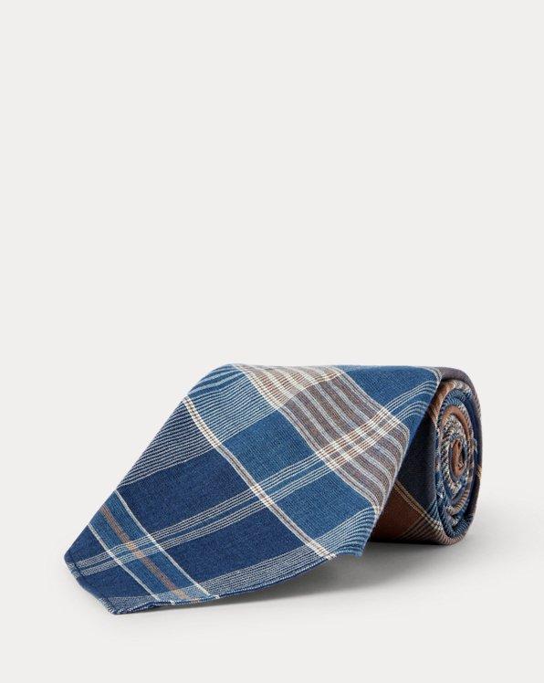Handmade Plaid Woven Tie