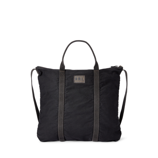 Double Rl Jungle Cloth Tote In Navy