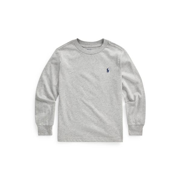 Polo Ralph Lauren Kids' Cotton Jersey Long-sleeve Tee In Andover Heather