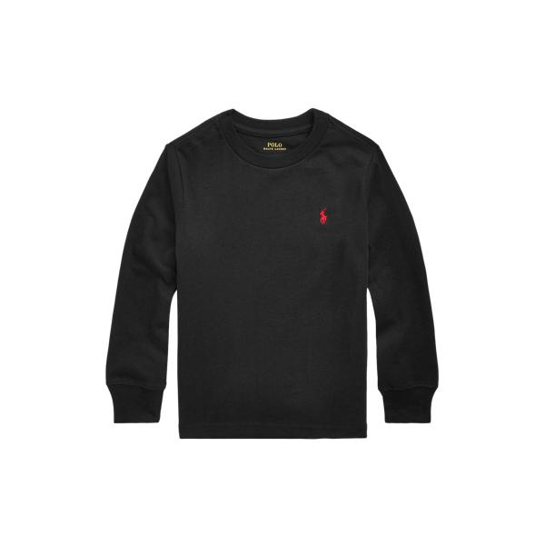 Polo Ralph Lauren Kids' Cotton Jersey Long-sleeve Tee In Black