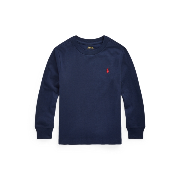 Polo Ralph Lauren Kids' Cotton Jersey Long-sleeve Tee In Cruise Navy