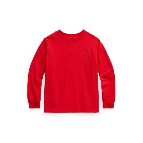 Polo Ralph Lauren Kids' Cotton Jersey Long-sleeve Tee In Rl 2000 Red