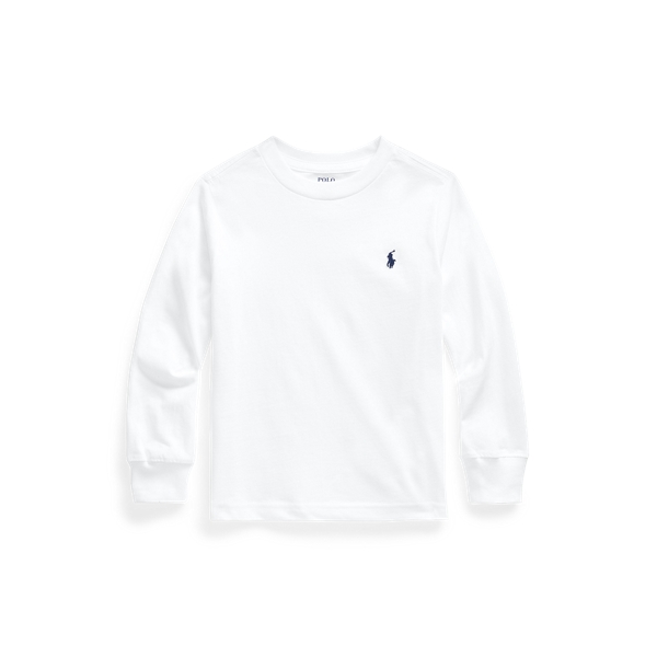 Polo Ralph Lauren Kids' Cotton Jersey Long-sleeve Tee In White