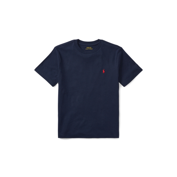 Polo Ralph Lauren Kids' Cotton Jersey Crewneck Tee In Blue