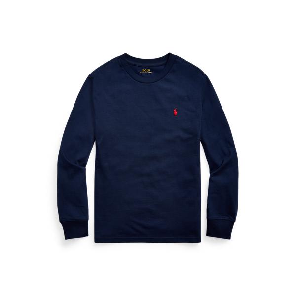 Polo Ralph Lauren Kids' Cotton Jersey Long-sleeve Tee In Blue