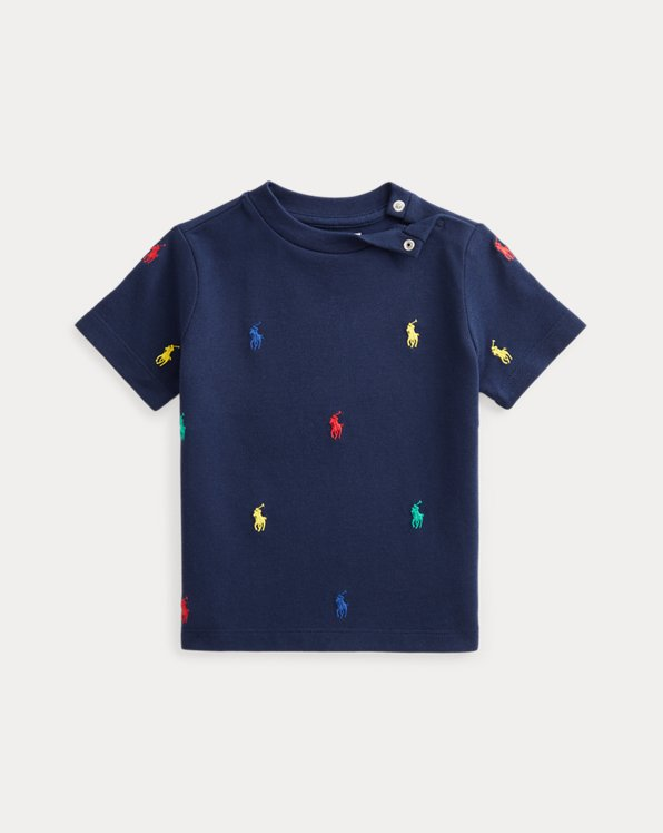 Polo Pony Cotton Mesh Tee