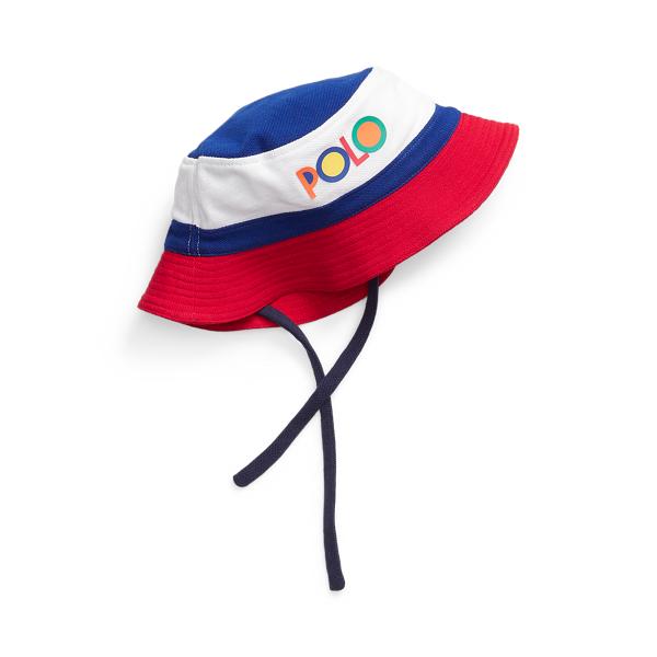 Ralph Lauren Babies' Logo Mesh Bucket Hat In Newport Navy