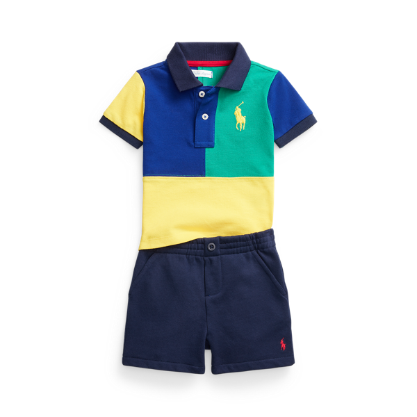 Big Pony Polo Shirt & Fleece Short Set
