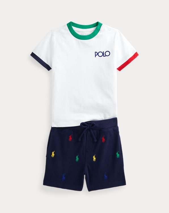 Logo T-Shirt and Polo Pony Short Set