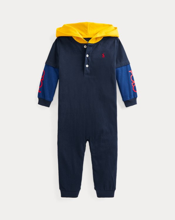 Cotton Jersey Hooded Coverall