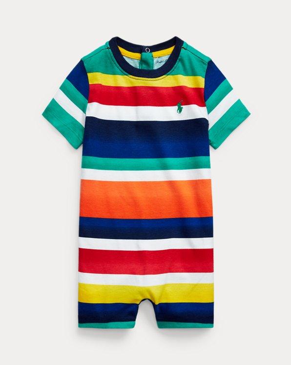 Striped Cotton Jersey Shortall