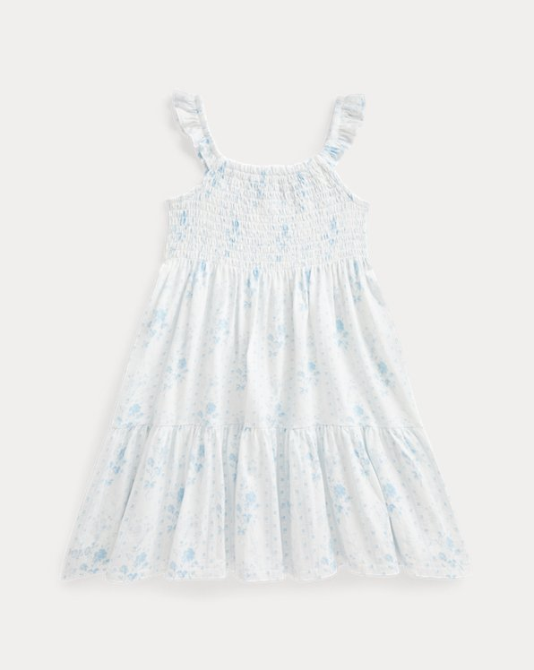 Floral Tiered Cotton Jersey Dress