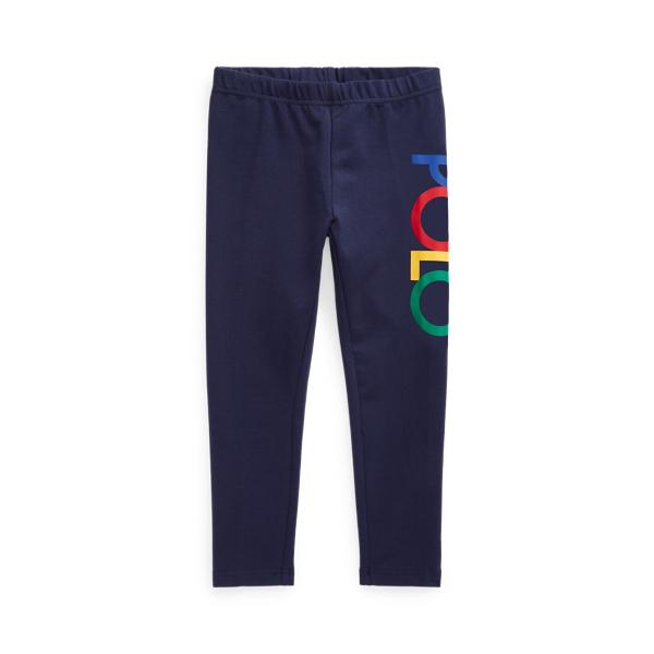 Polo Ralph Lauren Kids' Logo Stretch Jersey Legging In Blue