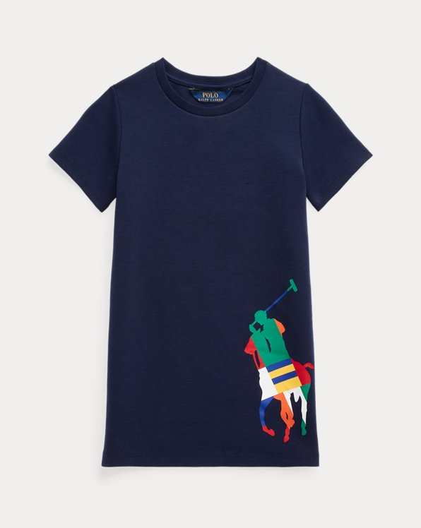 Robe t-shirt en maille double Big Pony