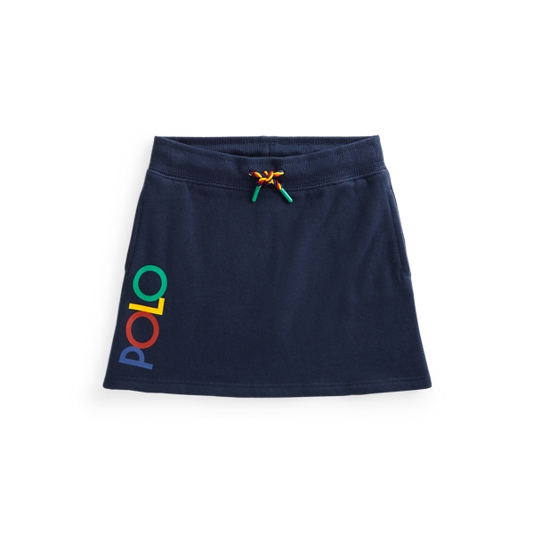 Polo Ralph Lauren Kids' Logo Fleece Skirt In French Navy