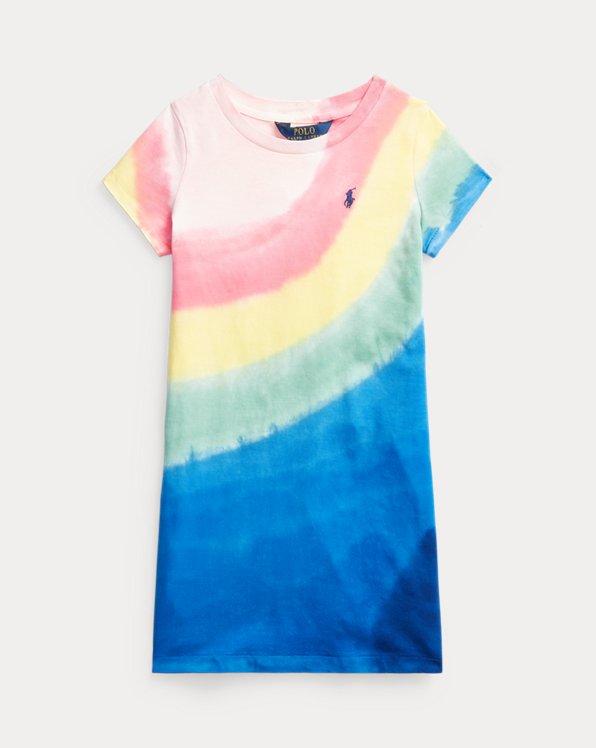 Robe t-shirt en jersey de coton tie-dye