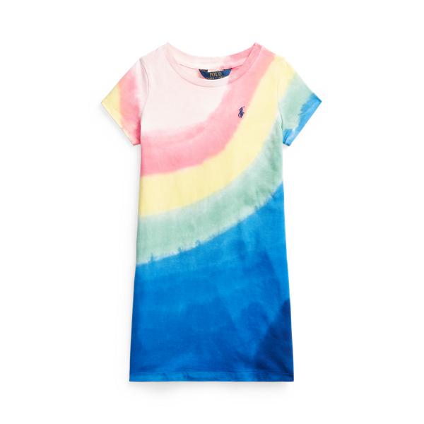 Polo Ralph Lauren Kids' Tie-dye Cotton Jersey Tee Dress In Stp Tie Dye