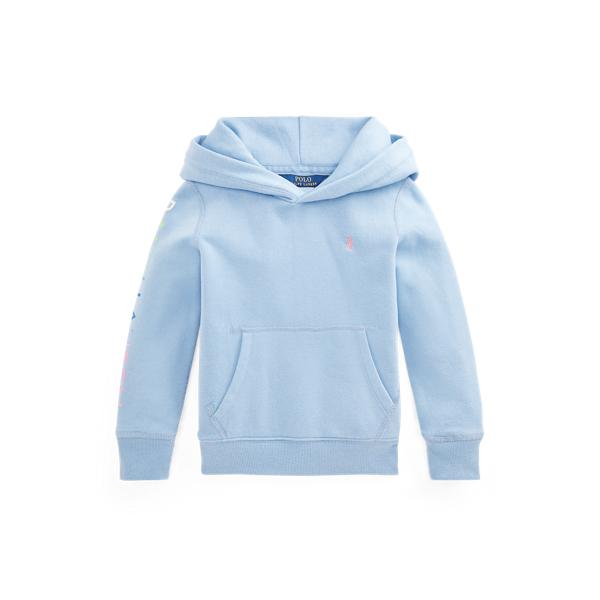 폴로 랄프로렌 여아용 로고 후드티 Polo Ralph Lauren Logo Fleece Hoodie,Chambray Blue