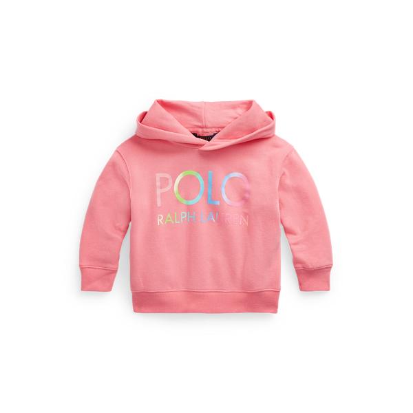 폴로 랄프로렌 여아용 옴브레 로고 후드티 Polo Ralph Lauren Ombre Logo Fleece Hoodie,Ribbon Pink