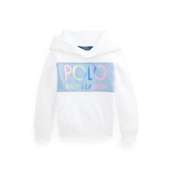 폴로 랄프로렌 여아용 로고 후드티 Polo Ralph Lauren Logo Fleece Hoodie,White