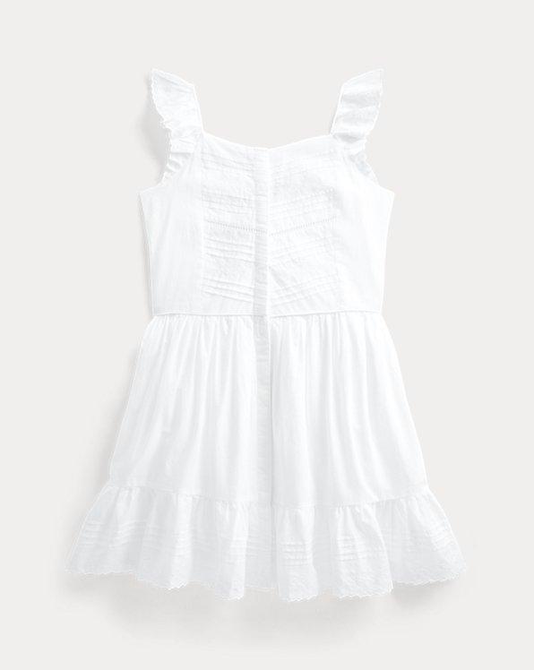 Besticktes Kleid aus Baumwollbatist