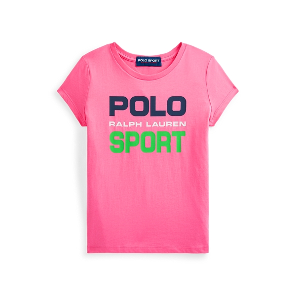 Polo Ralph Lauren Kids' Polo Sport Cotton Jersey Tee In Pink