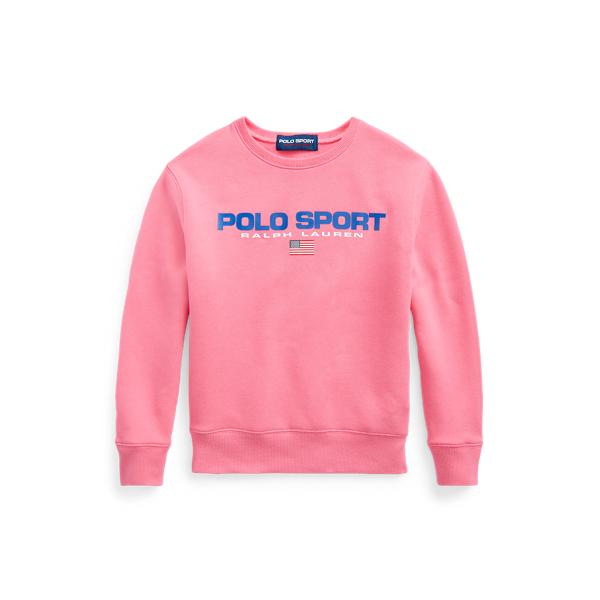 Polo Ralph Lauren Kids' Polo Sport Fleece Sweatshirt In Blaze Knockout Pink