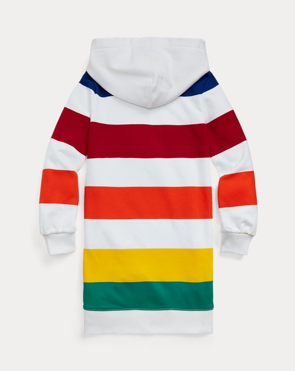 Striped French Terry Hoodie Dress