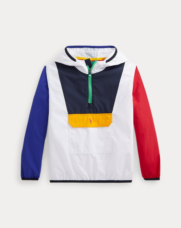 Colour-Blocked Pullover Jacket