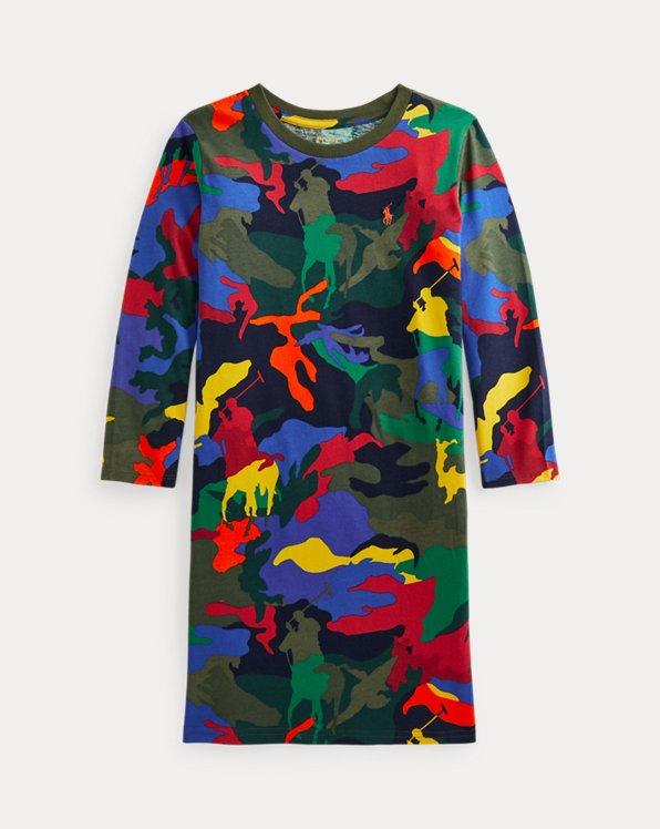 Big Pony Camo Jersey T-Shirt Dress
