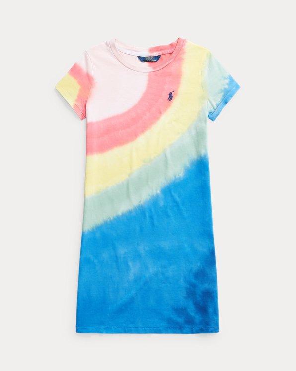 Abito a maglietta in jersey tie-dye