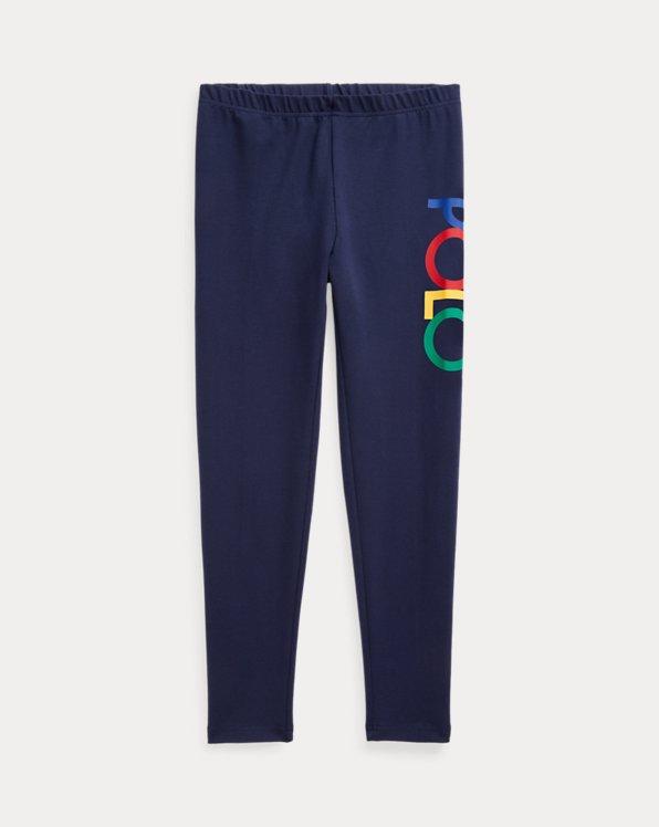 Leggings in jersey stretch con logo