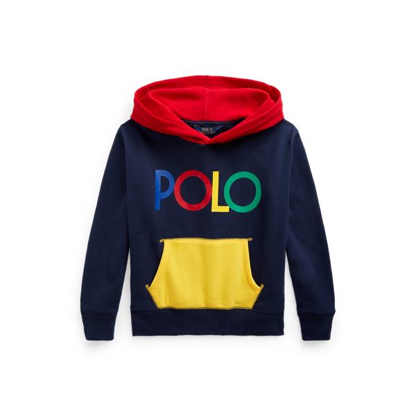 Polo Ralph Lauren Kids' Logo Fleece Hoodie In Blue