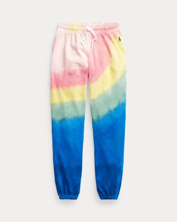 Pantaloni da jogging in spugna tie-dye