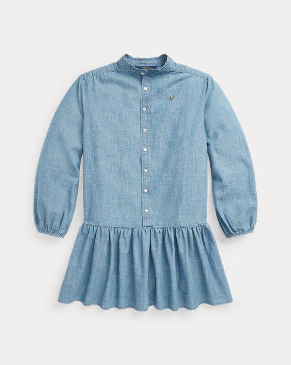 Cotton Chambray Shirtdress