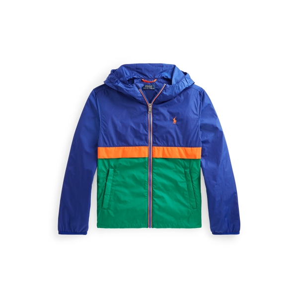 폴로 랄프로렌 Polo Ralph Lauren Color Blocked Hooded Jacket,Heritage Royal Multi
