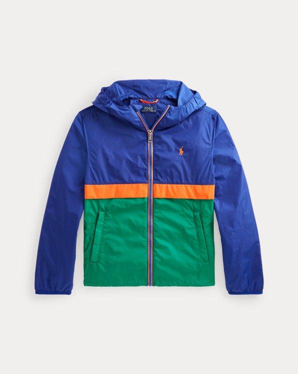 Color-Blocked Hooded Jacket