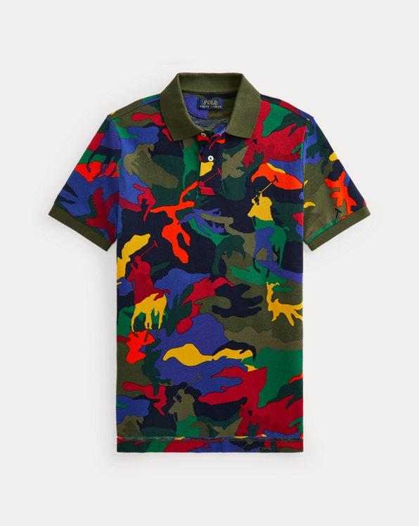 Camouflage-Polohemd mit Polo Pony