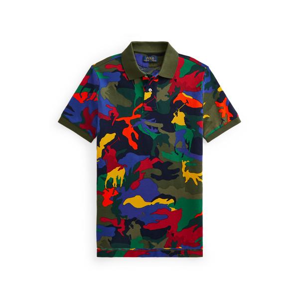 Polo Ralph Lauren Kids' Polo Pony Camo Cotton Mesh Polo Shirt In Player Camo