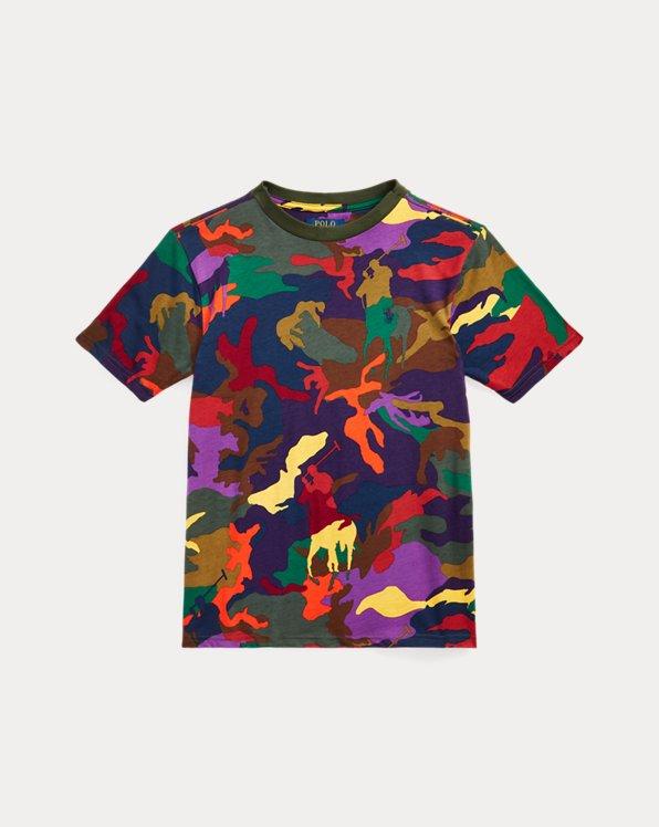 Camouflage-T-Shirt mit Polo Pony