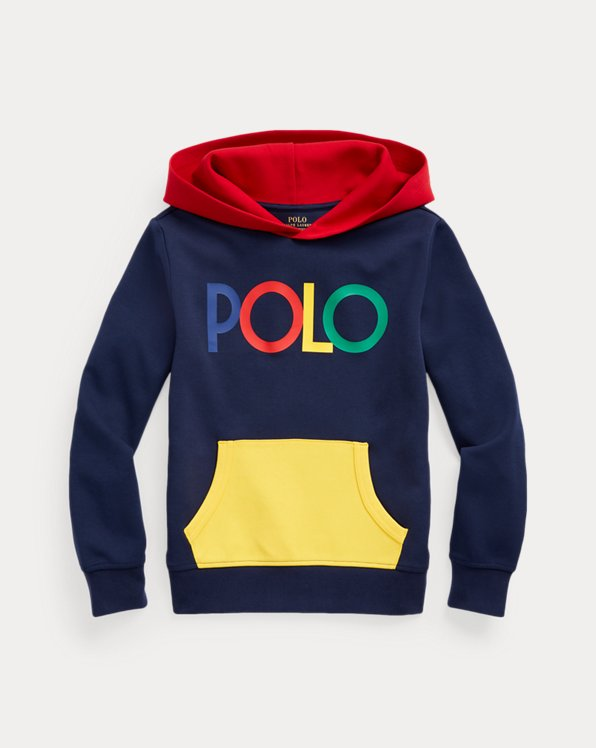 Logo Colour-Blocked Double-Knit Hoodie