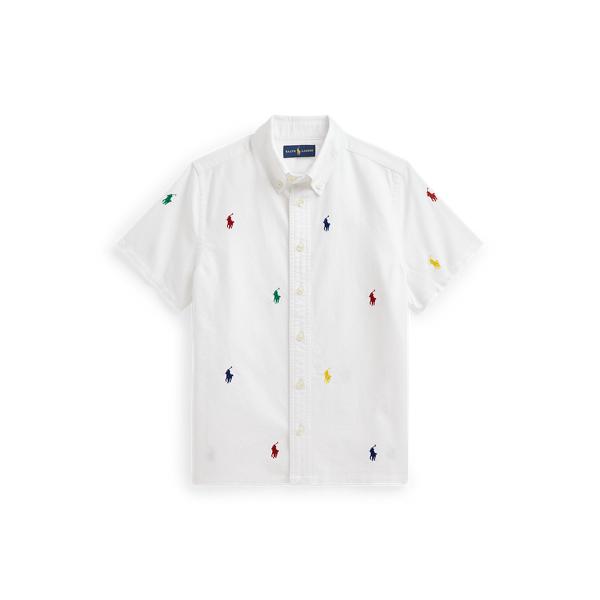 Polo Ralph Lauren Kids' Polo Pony Cotton Oxford Shirt In White