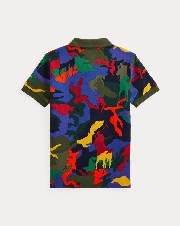 Polo Pony Camo Cotton Mesh Polo Shirt