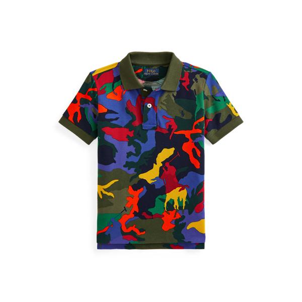 Polo Ralph Lauren Kids' Polo Pony Camo Cotton Mesh Polo Shirt In Multi