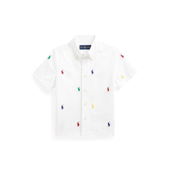 폴로 랄프로렌 남아용 옥스포드 셔츠 Polo Ralph Lauren Polo Pony Cotton Oxford Shirt,White