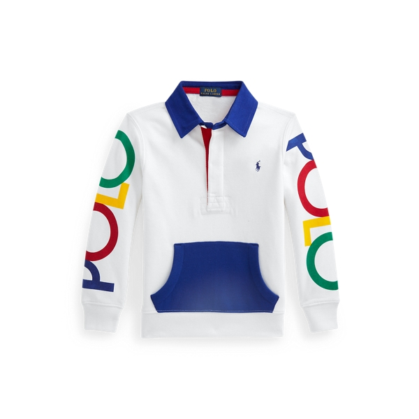 Polo Ralph Lauren Kids' Logo Rugby Sweatshirt In White