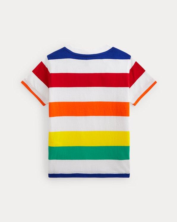 Logo Striped Cotton Jersey Tee