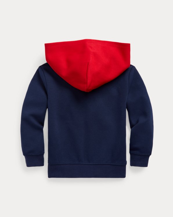 Logo Color-Blocked Double-Knit Hoodie