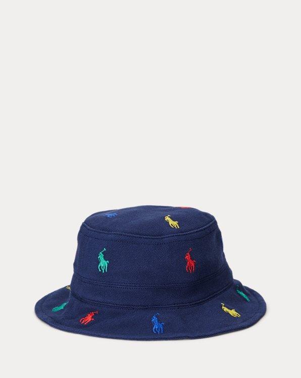 Polo Pony Mesh Bucket Hat