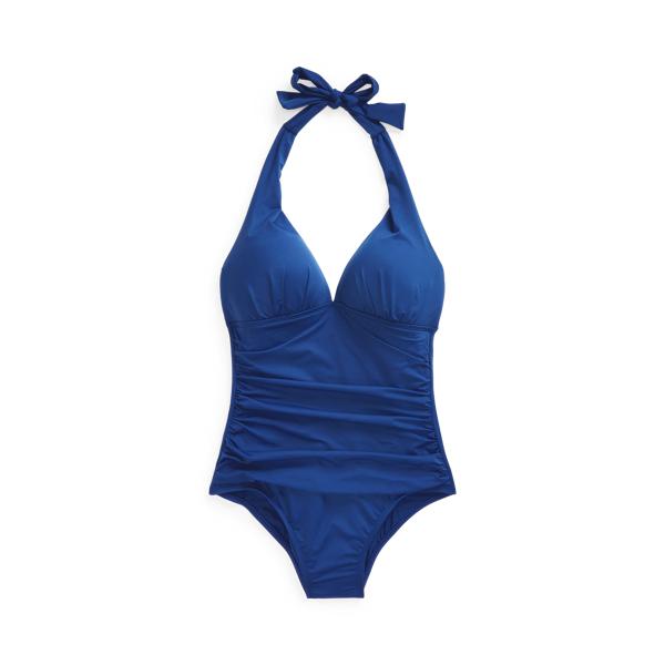 Lauren Ralph Lauren Halter One-piece In Blue